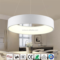 Single Simple LED Round Restaurant Chandelier