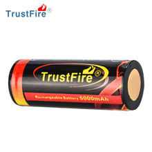 3.7v Lithium Ion Battery TrustFire small 3.7 volt battery, Rechargeable Lithium Icr trustfire 26550 battery for Led Flashlight