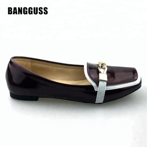 Low price ladies latest women flat dress loafer shoes