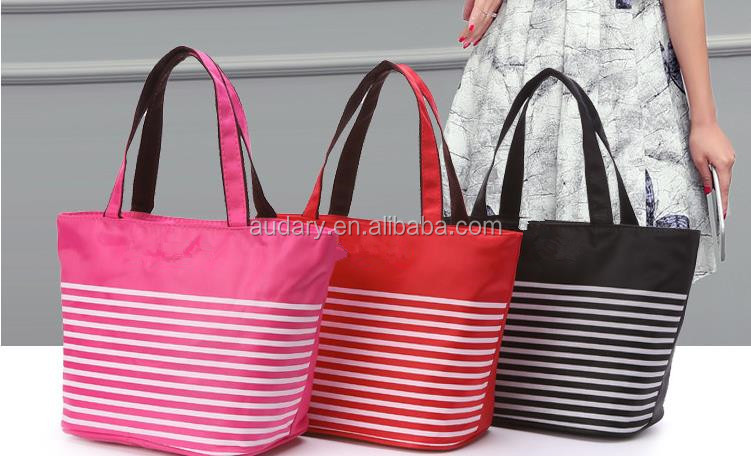 insulated cooler lunch bag multiple colors canvas polyester material waterproof hand tote