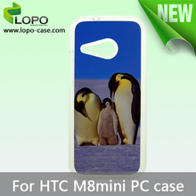 2014 new sublimation diy phone cases for HTC one M8 Mini