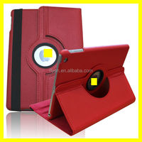 ON SALES ! NEXT GENERATION 360 DEGREE ROTATING RED LICHI PATTERN PU LEATHER CASE STAND FOR IPAD AIR