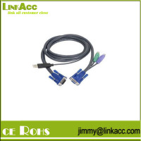 "LinkYH-59 IOGEAR G2L5502UP 6"" intelligent KVM cable 2x6 pin mini-din ps/2 4-pin USB"