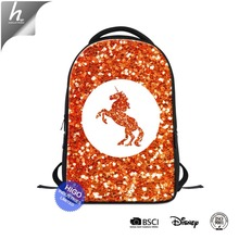 Hot Style Unicorn Printed College Notebook Back Pack Laptop Bag Backpack for Girls