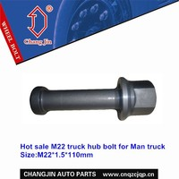 Hot sale hub bolt and nut for Man truck