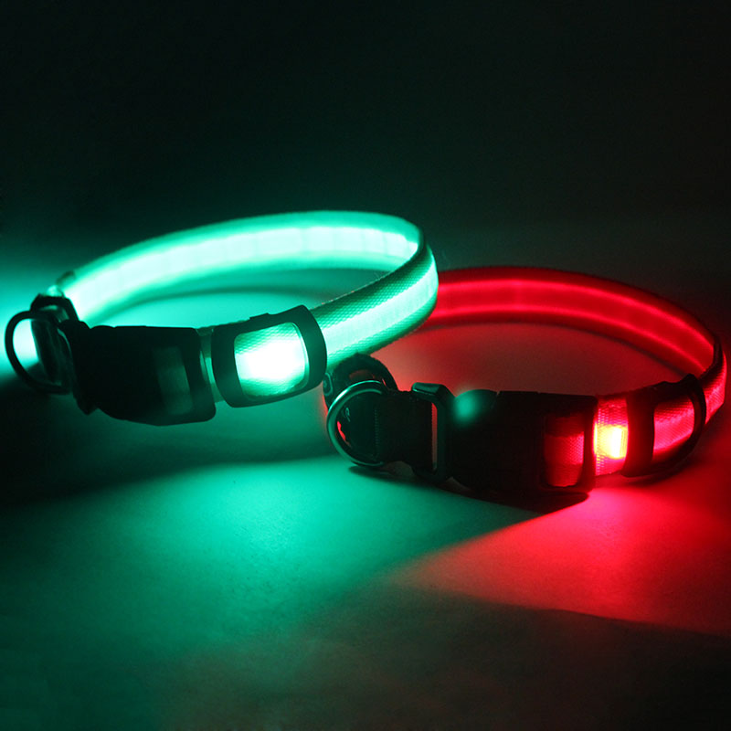 New Item Pet Accessory DIY Fashion Luminous Sport Dog Shock Collar for sale