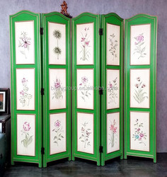 Elegant Nostalgic European Style Hinged Folding Floor Screen for Hotel Lobby and Hall BF11-05161b