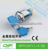 cmp ip67 three phase ignition key switch for generator