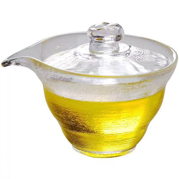 Clear Glass Tea Sharing Pitcher Glass Justic Cup Handmade Glass Cup with lid