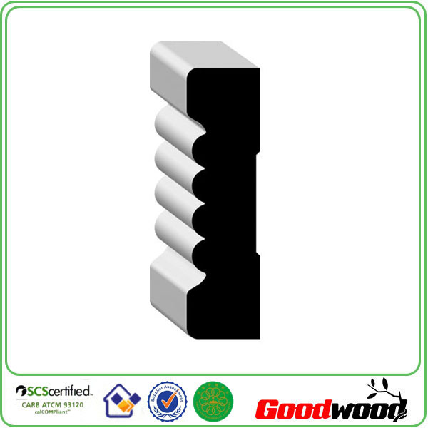 interior decoration Primed MDF skirting moulding made in China
