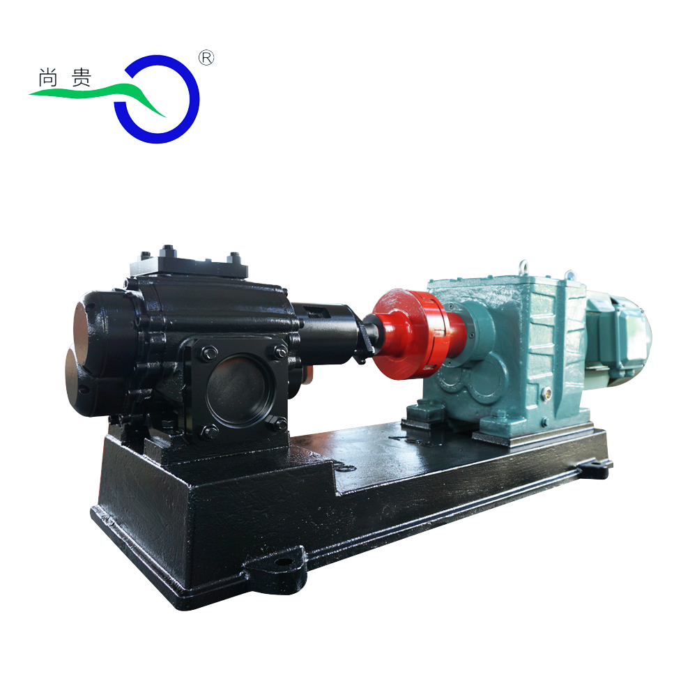 Low discharge simple structure hydraulic asphalt/oil transfer external gear pump