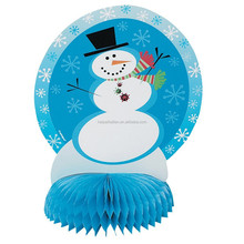 Handmade snowman Paper Honeycomb Centerpiece for Christmas party Decoration