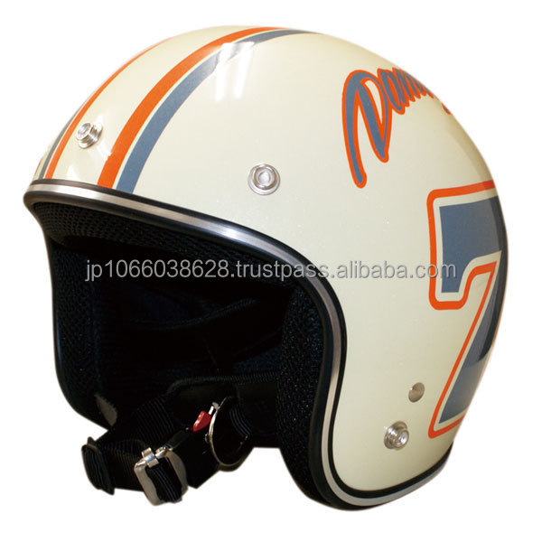 Japanese motorcycle open face helmet for child with pop design