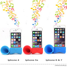 2017 Hot Purely Promotional Wireness Mini Smart phone Speaker Silicone Cell phone Sound Amplifier