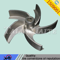 abrasion resistance alloy steel resin sand casting pump impeller