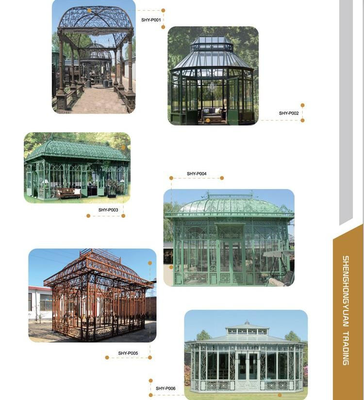 Best seller wrought iron garden antique metal gazebo
