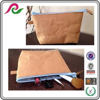 100% recycle custom washable kraft paper zip lock bag pouch