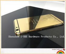 Mirror Gold Housing for iPhone 6 plus , Deep Engrave Back Housing for iPhone