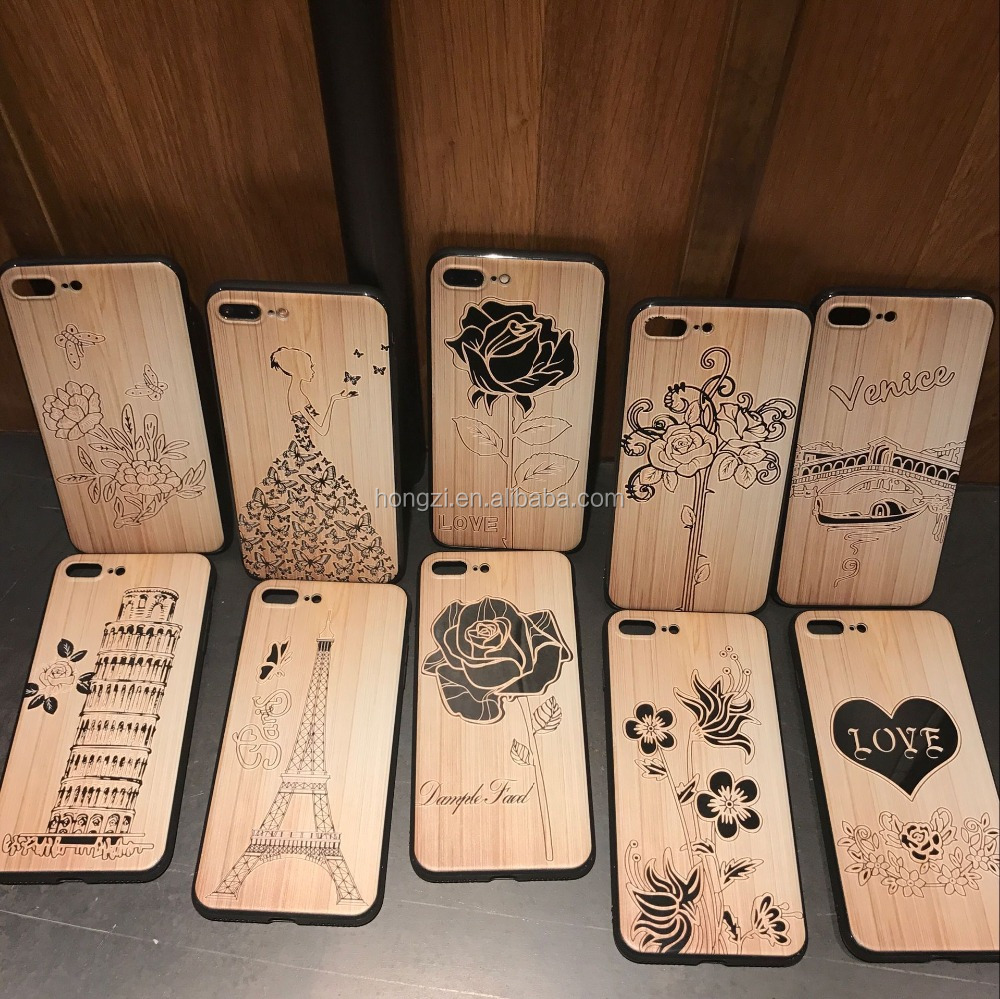 Wood Embossed painting soft Relief Rubber back cover case for iphone 5 6s 7 7 plus 6 plus 5.5 inch curved rubber cases covers