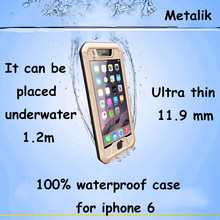 The world's first paragraph deep to 1.2m waterproof case for apple iphone 6 case ultra thin design