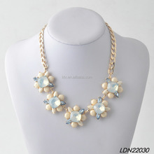 Bisuteria Crystal statement Necklace With Chunky Chain Jewelry bridesmaid gift