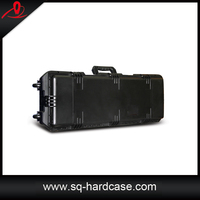 Plastic water resistance solid flight case with precut foam inside