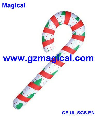 Inflatable Candy Cane Christmas Decoration