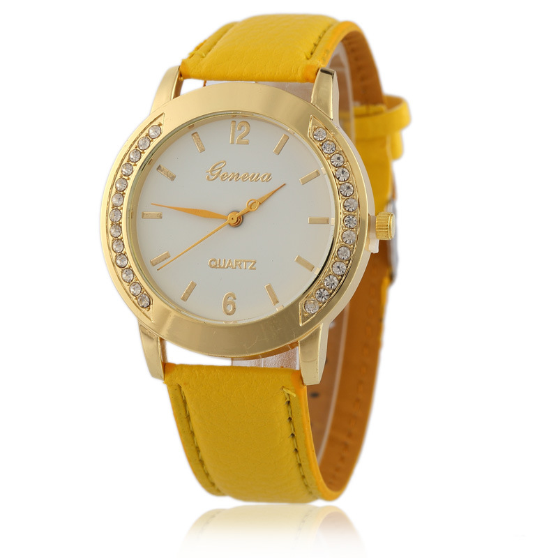 More Colors Women Geneva Watches Mens Girls Top Brand Luxury Latest Watches Design For Ladies