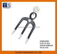 forged fork hoe F105-3T 3lb oval eye