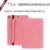 2018 new products  Fabric standing tablet case with pen holder for new ipad 2018 with card slots