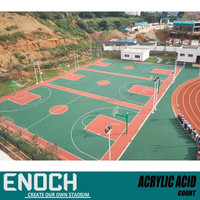 ITF certificate Tennis Court acrylic acid price