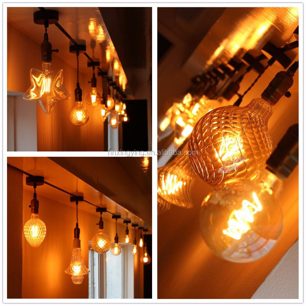 pine cone edison style dimmable led bulb for home coffee bar lighting