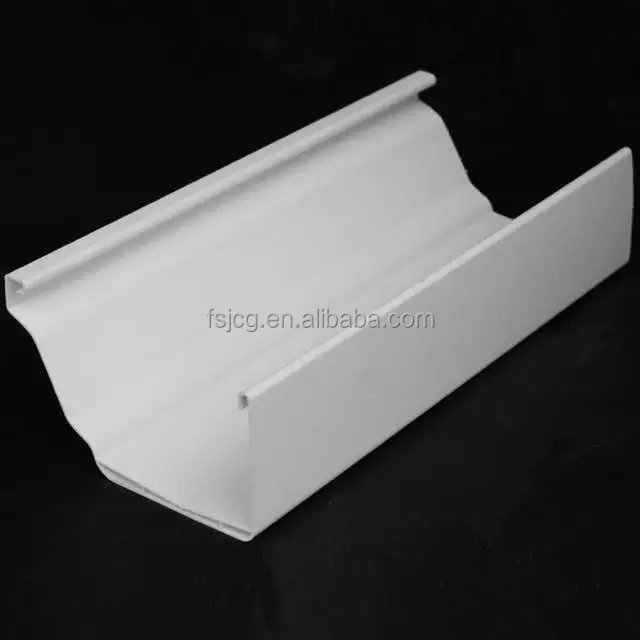 5.2 in pvc square guttering pipe/good quality pvc rain gutter system popular with africa market
