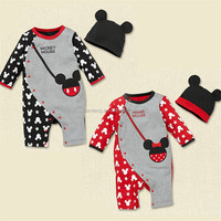 baby rompers with hat/ baby boys creepers 2016 girls baby jumpsuit