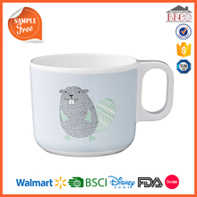 3D Ceramic Look Plastic Melamine Animal Mug With Custom Design
