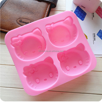 High Quality Soft Cupcake HelloKitty Silicone Mold For Cake Decorating