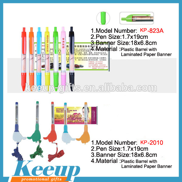 Top quality customized LOGO Cheap touch Banner Pen 2 in 1for ipad or mobile phone
