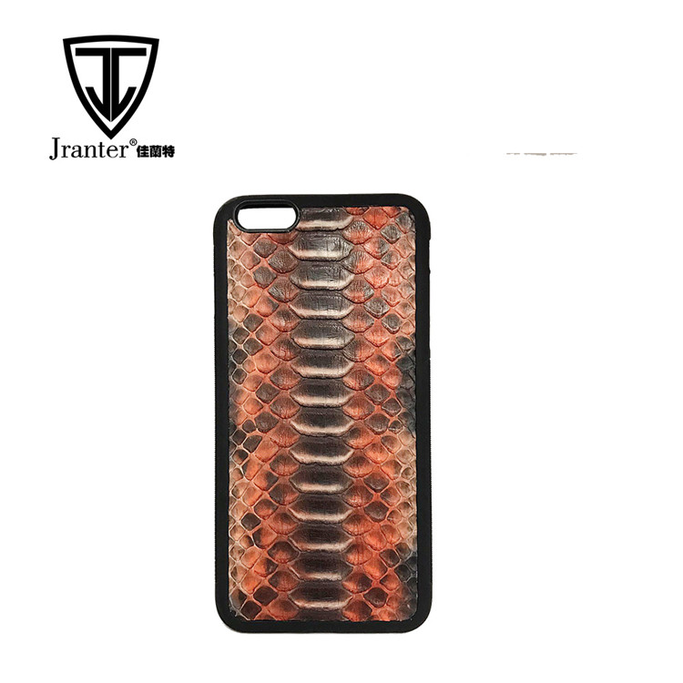 Python Snakeskin Leather Cell Phone Case for Iphone 6 plus / iphone 7,100% Real Python Skin Case For Iphone 8