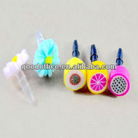 Delicious fruit design anti dust plug stopper