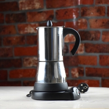 New Arrivel Espresso Coffee Maker Stainless Steel Euro Plug Electrical Moka Pot 220v