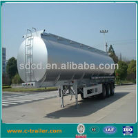 45000L Crude oil/diesel/petrol tank semi trailer, stainless tanker trailer