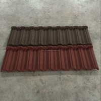 Single/ Double color Metal Tile Stone Coated Roof Tile