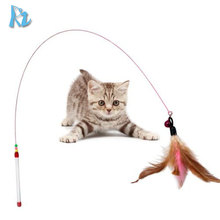 Funny Play Cat Teaser Toys Interactive Cat Toy Cat Feather Toy Wand