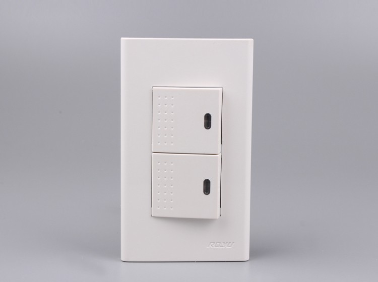 2 Gang 1 Way Switch Home Used Zwave Switch 250v 15a