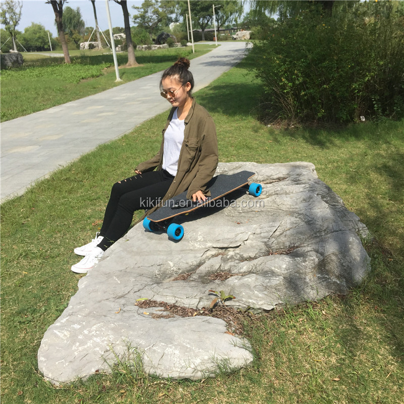 Fashion sports off road electric skateboard longboard hub motor brushless 1200W canadian maple remote control