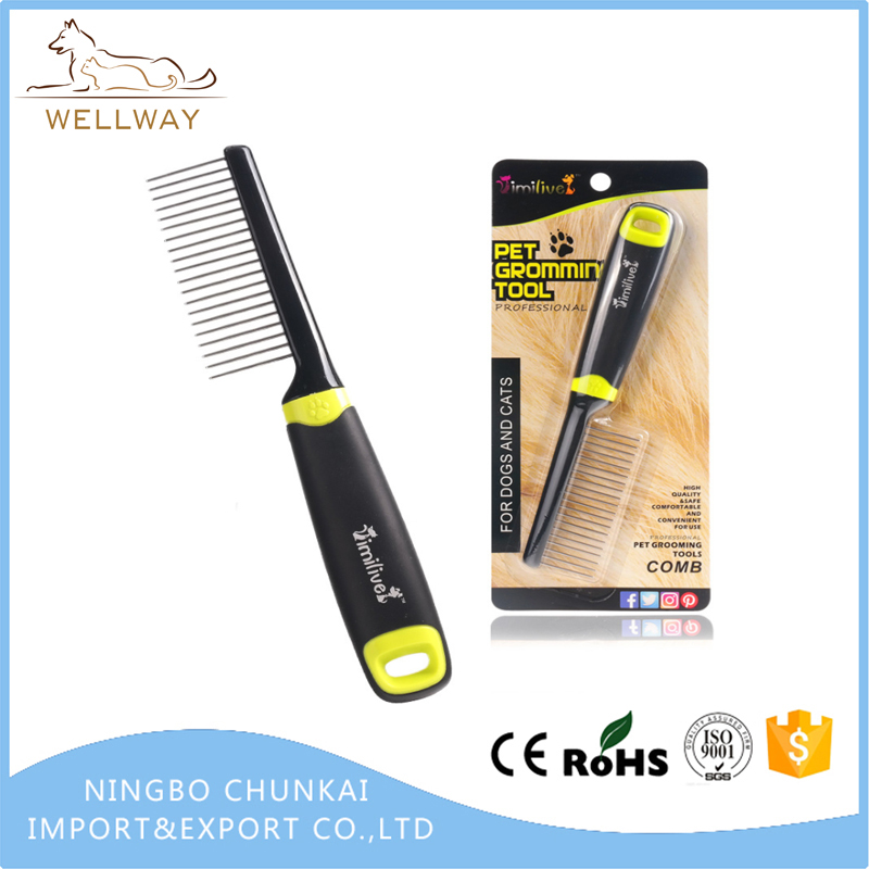 Dog Grooming Comb for Dogs & Cats Rounded Pin Comb Smooth Pet Hair Preventing Matts