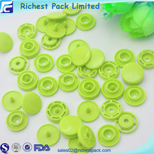 Custom logo plastic snap button fasteners plastic snap for hat closure