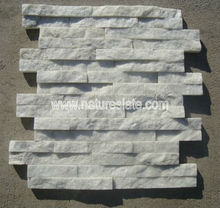 white stone wall cladding,Z shape white quartzite wall cladding