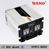 Power inverters with charger and voltage stabiliser dc to ac 600w12v 24v