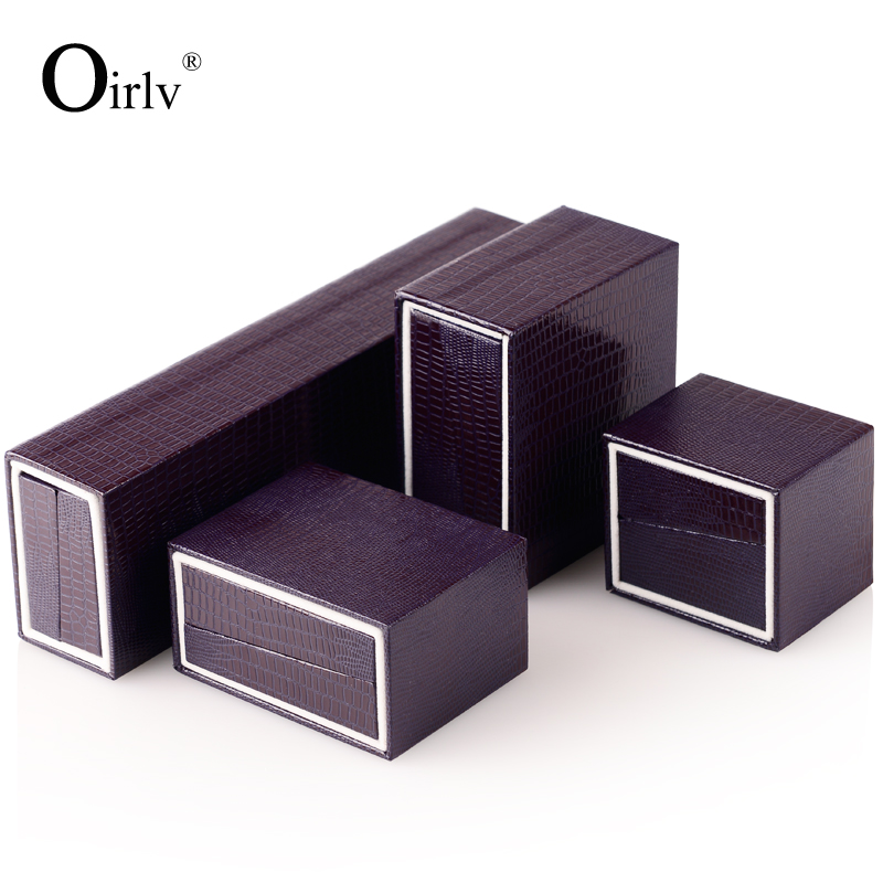 Oirlv Purple Fancy Paper Jewellery Gift Box with Outer Sleeve Box Custom Jewelry Boxes Packaging